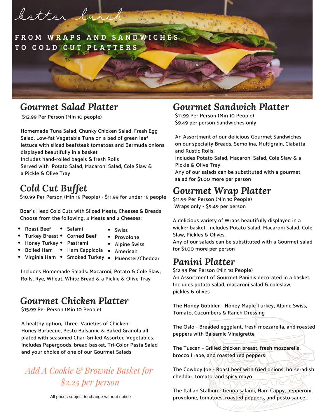 broadway gourmet lunch